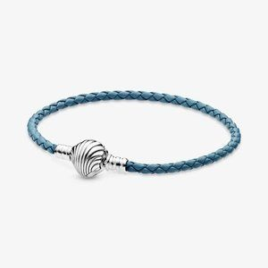 💉Pandora Seashell Braided Leather Bracelet